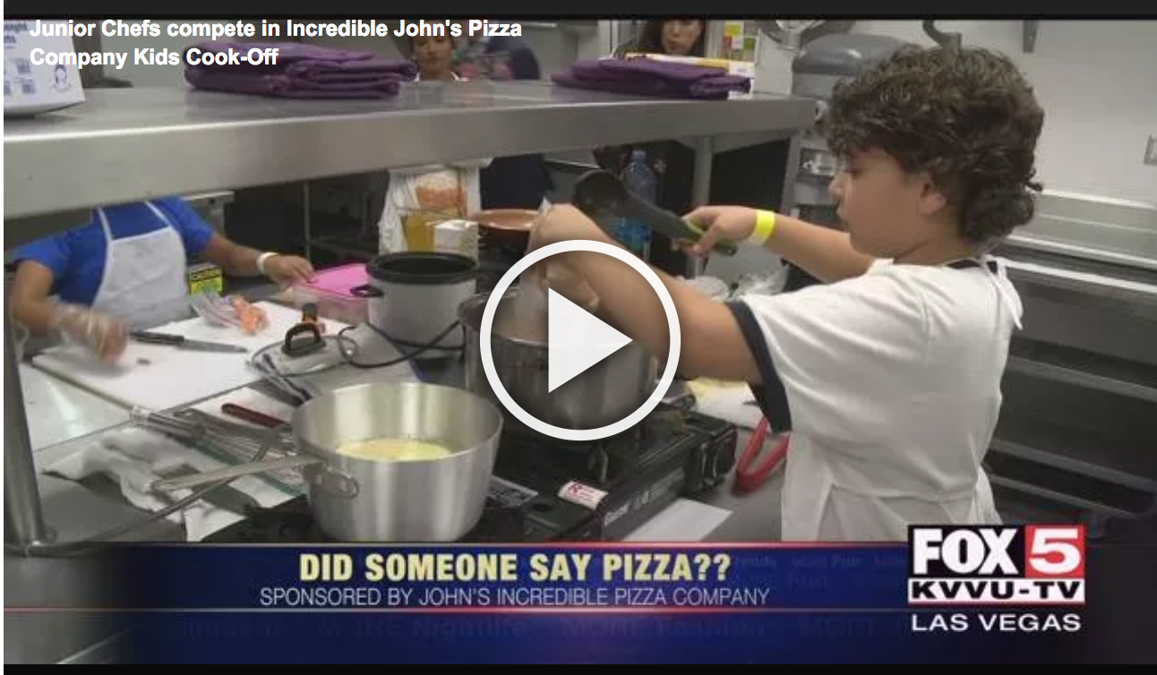 Junior Chefs compete in Incredible John's Pizza Company Kids Cook-Off