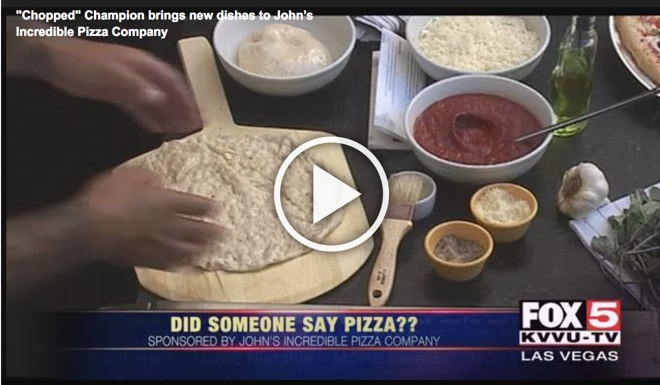 Chopped Champion brings new dishes to John's Incredible Pizza Company
